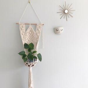 """Macrame Planter Wall Hanging  """"Rise"""""""